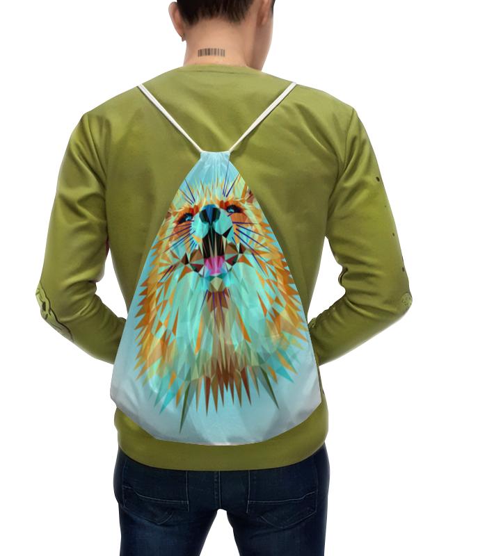Фото - Printio Рюкзак-мешок с полной запечаткой Лиса low poly printio футболка с полной запечаткой мужская лиса low poly