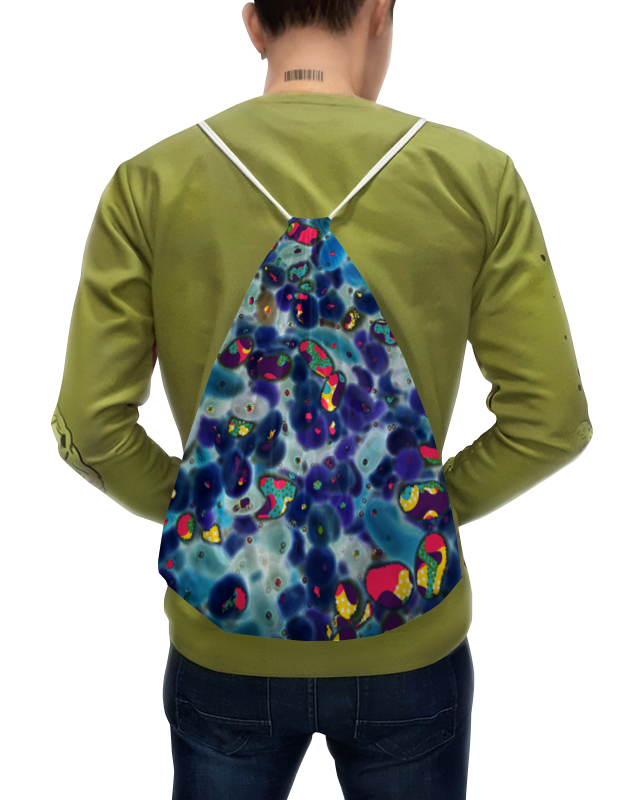 Printio Рюкзак-мешок с полной запечаткой Разноцветные камушки.