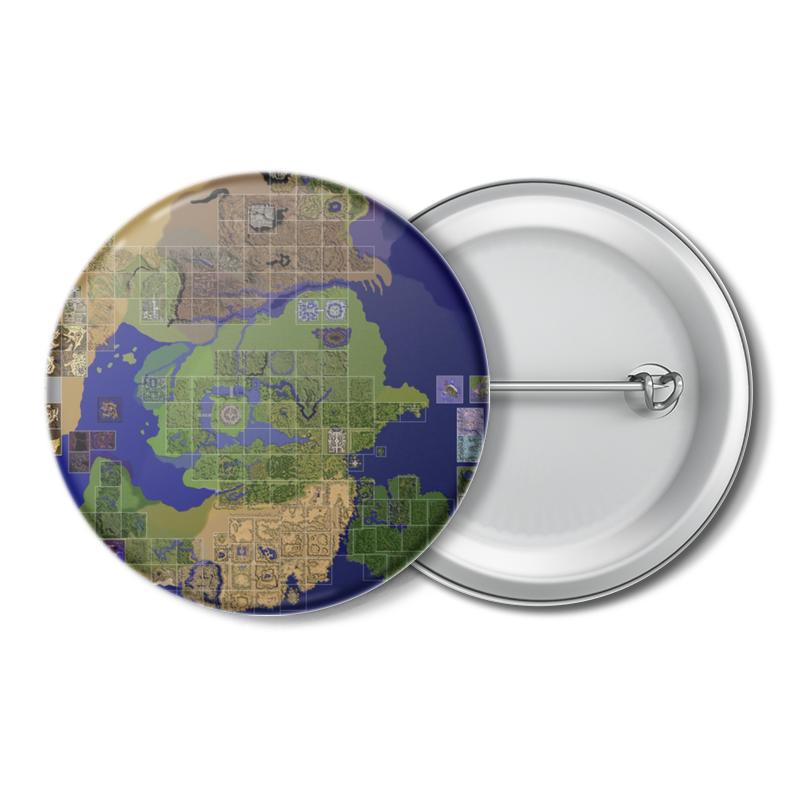 Printio Значок Карта мира ragnarok online