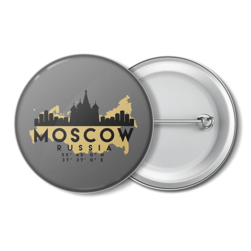 Printio Значок Москва (россия)