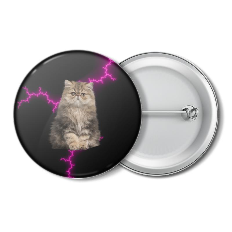 Printio Значок Кот и молния printio значок кот и звезды