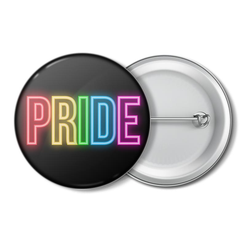 Printio Значок Pride/прайд неон недорого