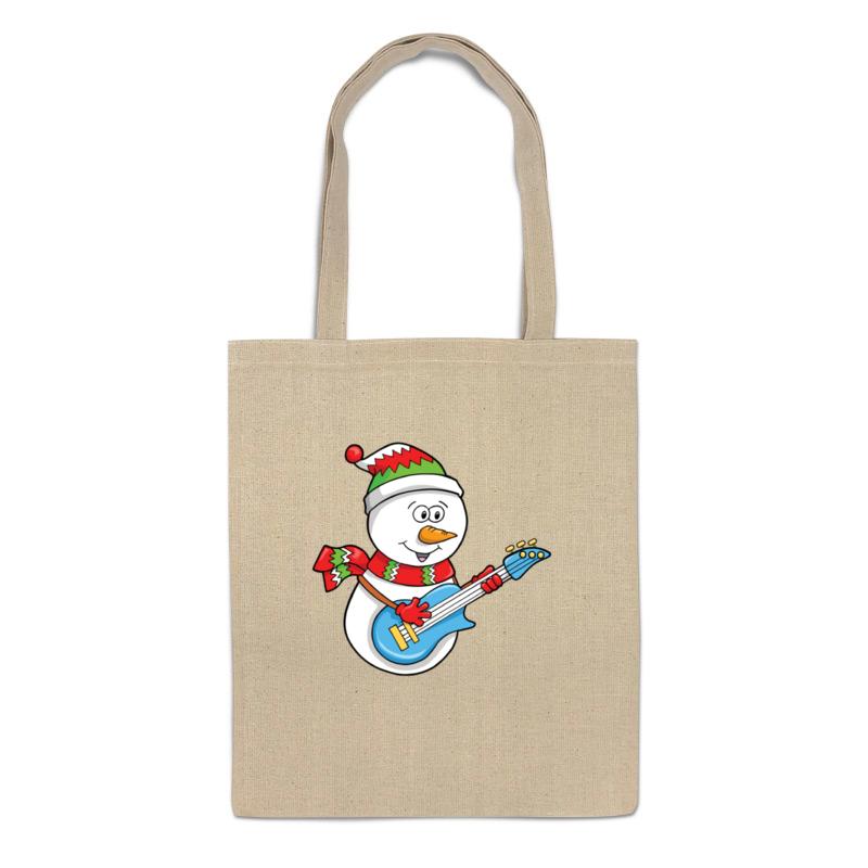 Printio Сумка Снеговик с гитарой