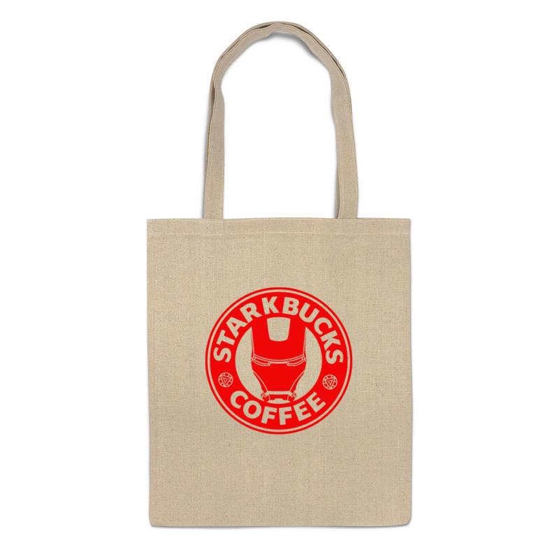 сумка printio shanbucks coffee Printio Сумка Stark bucks coffee (iron man)