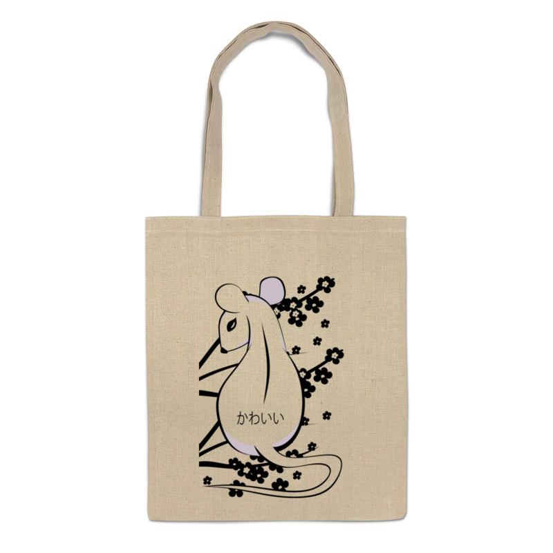 сумка printio мышка Printio Сумка Белая мышь