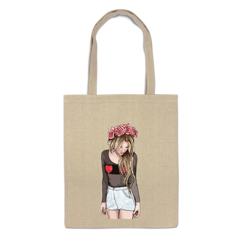 Printio Сумка Девушка с венком printio сумка с абстрактным рисунком