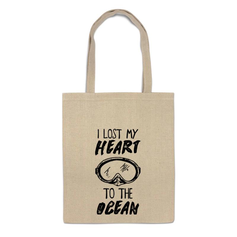 printio футболка классическая i lost my heart to the ocean Printio Сумка I lost my heart to the ocean