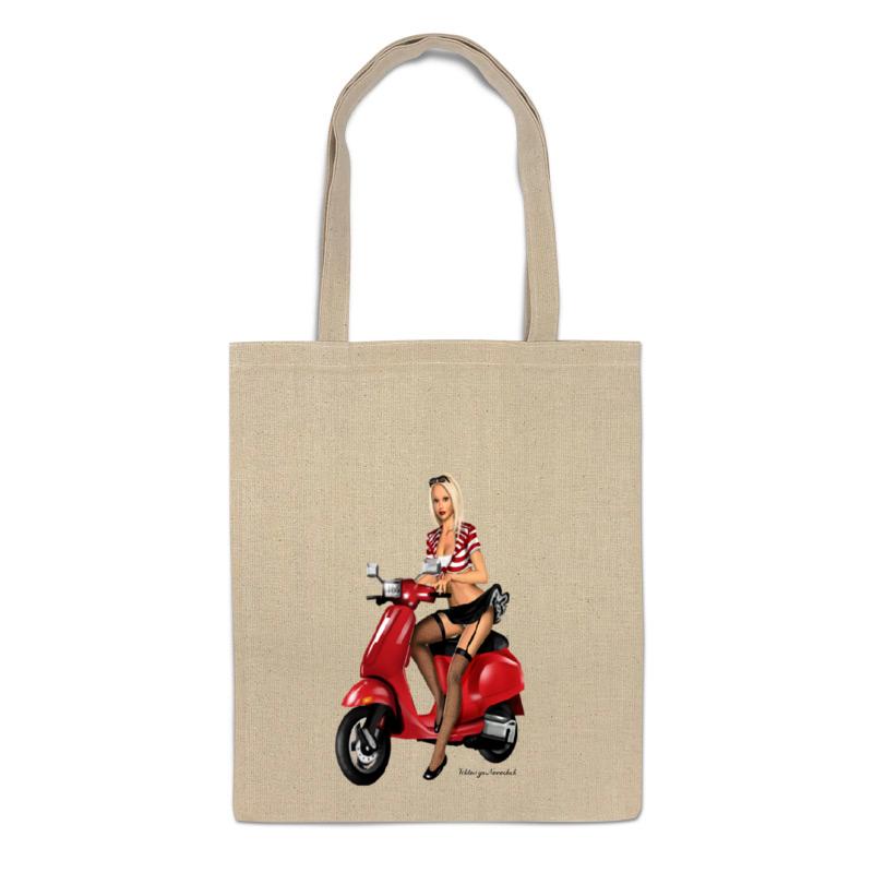 Printio Сумка Девушка на мотоцикле