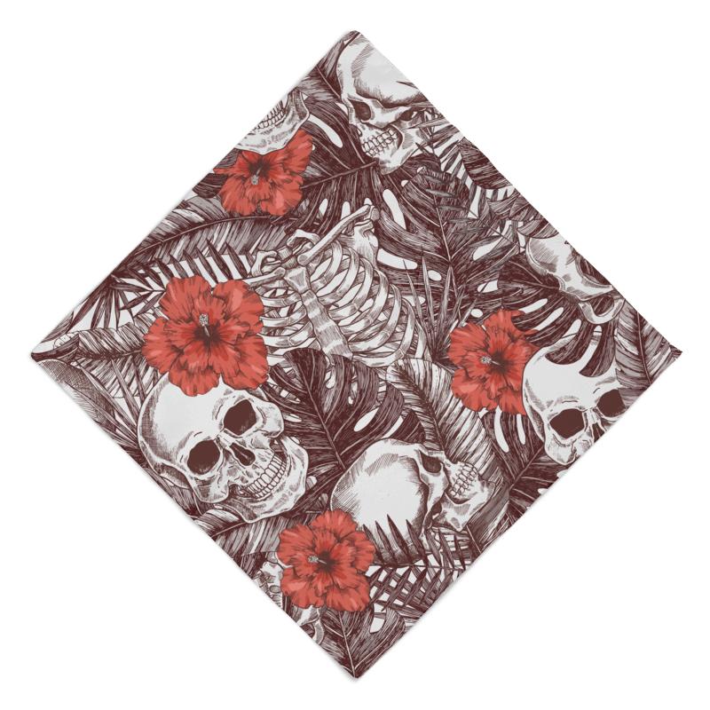 Printio Бандана Скилет с цветами