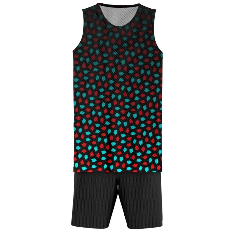 Printio Баскетбольная форма Aqua maroon