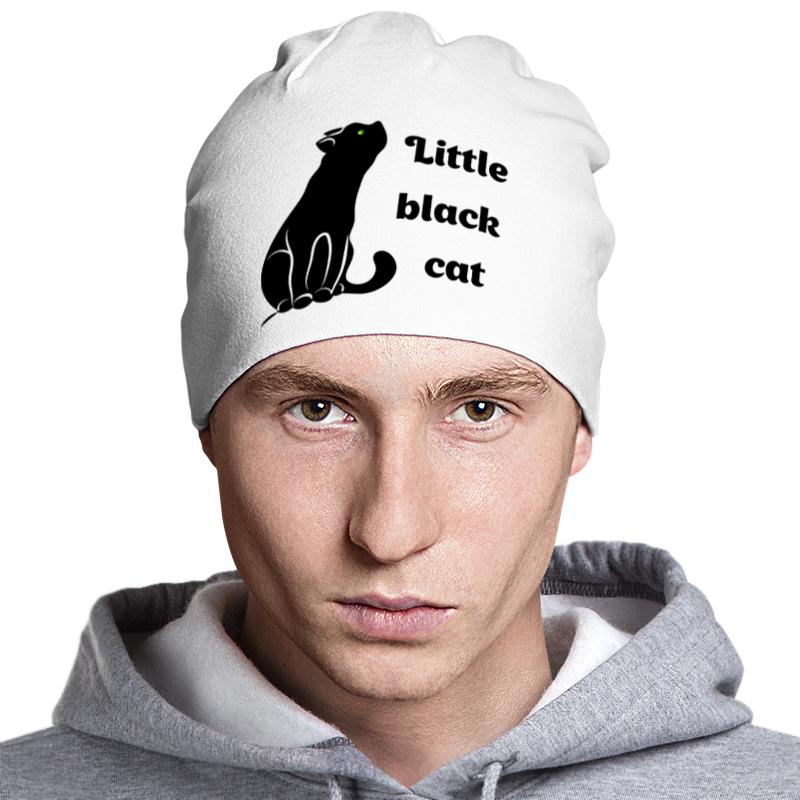 Printio Шапка классическая унисекс Черная кошка