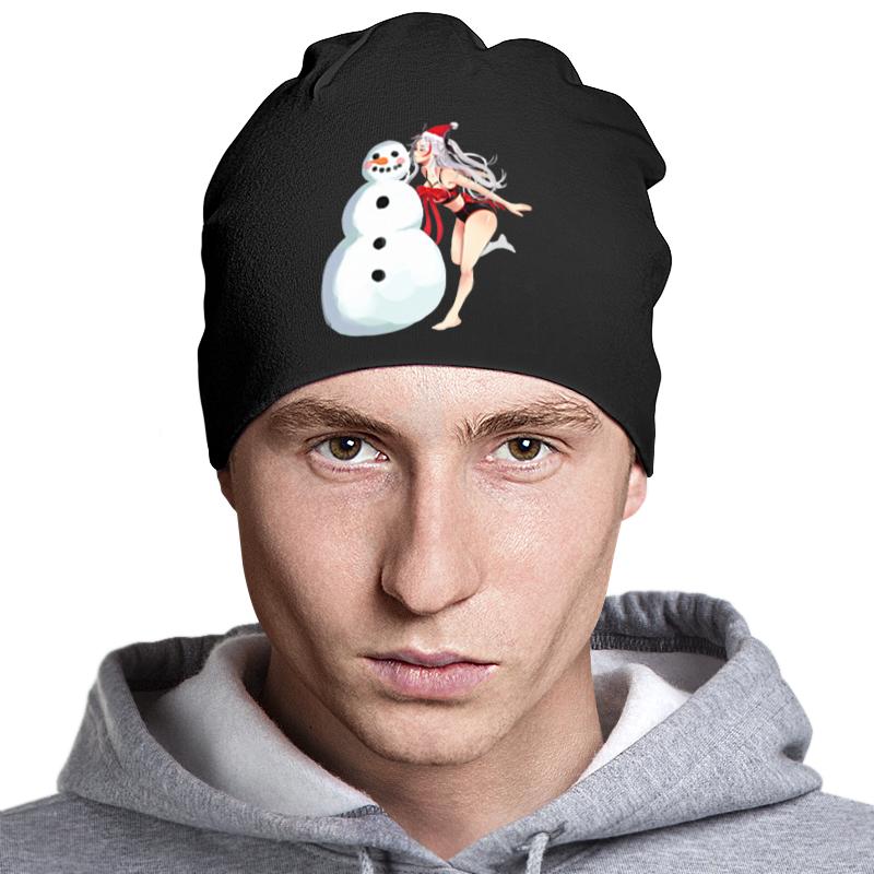Printio Шапка классическая унисекс Снеговик