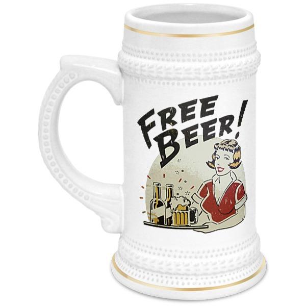Printio Кружка пивная Free beer!
