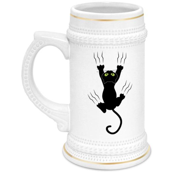 Printio Кружка пивная Прикольный кот