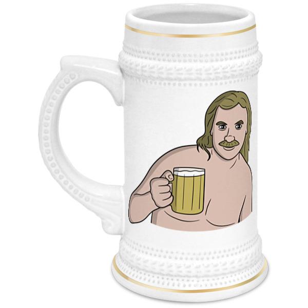 Printio Кружка пивная Выпьем за любовь