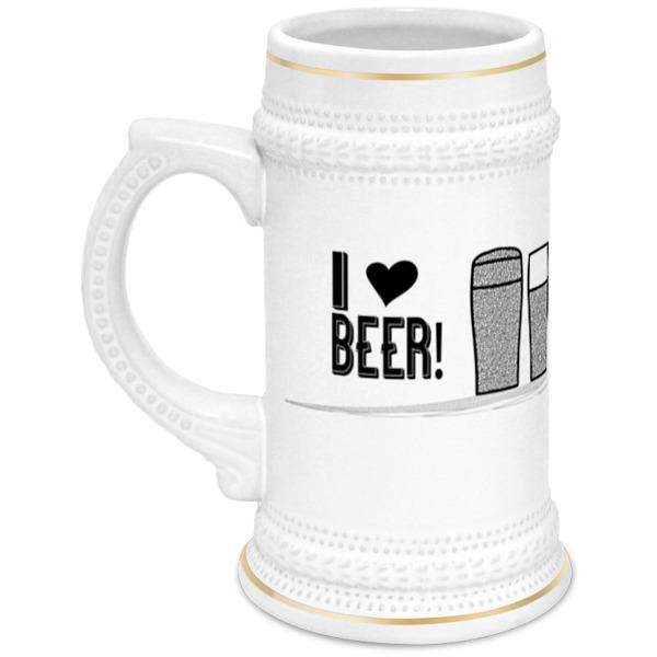 Printio Кружка пивная Я люблю пиво