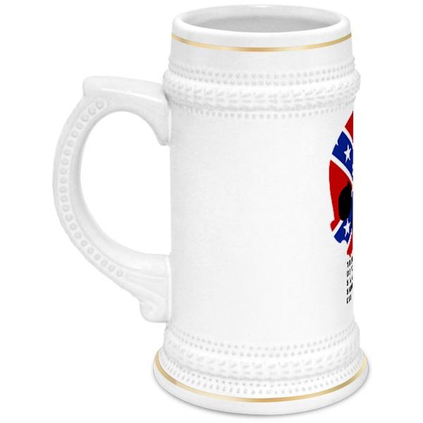 Printio Кружка пивная Флаг конфедерации сша