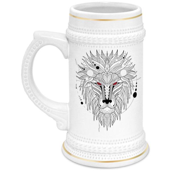printio lion rastaman Printio Кружка пивная Лев ( lion )