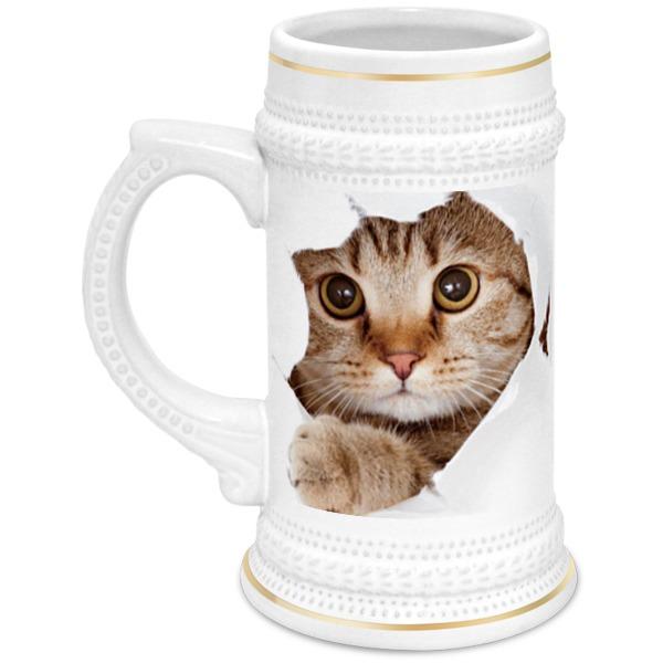 Printio Кружка пивная Кошки