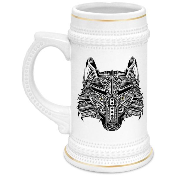 Printio Кружка пивная Этнический волк printio кружка пивная колыбельная