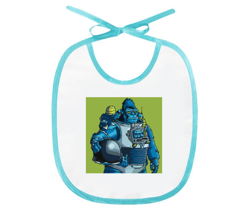 Printio Слюнявчик Космическая горилла