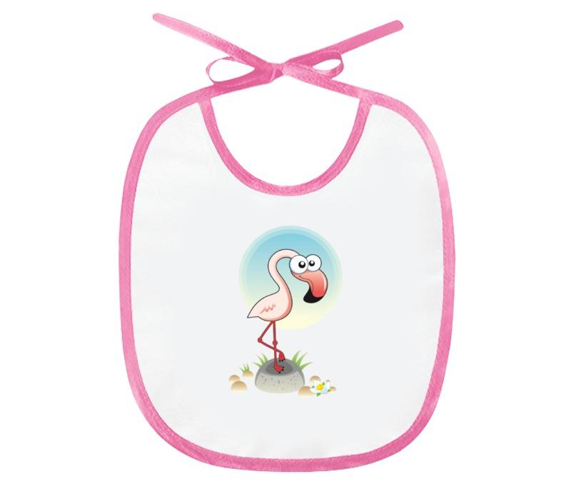 Printio Слюнявчик Розовый фламинго недорого