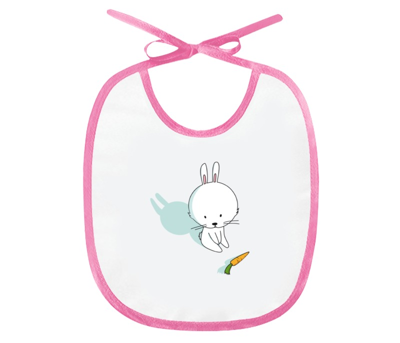 Printio Слюнявчик Кролик с морковкой