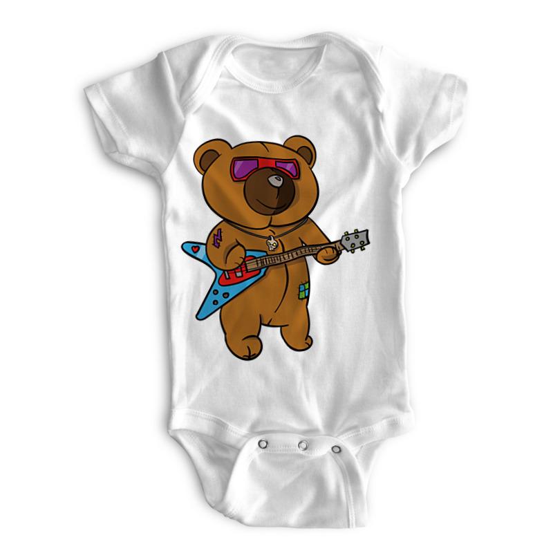 Printio Детские боди Гитарист