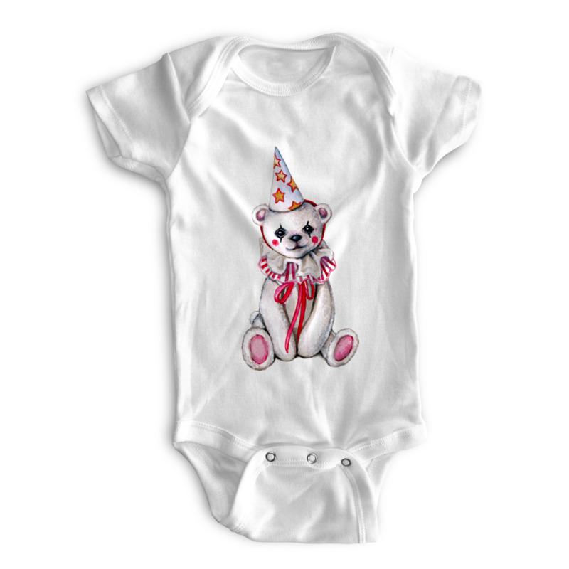 Printio Детские боди Белый мишка в колпачке на белом printio детские боди олимпийский мишка