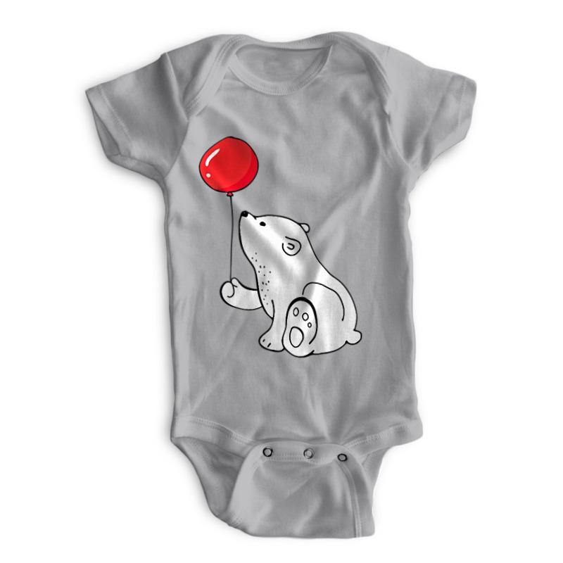 Printio Детские боди Мишка с шариком