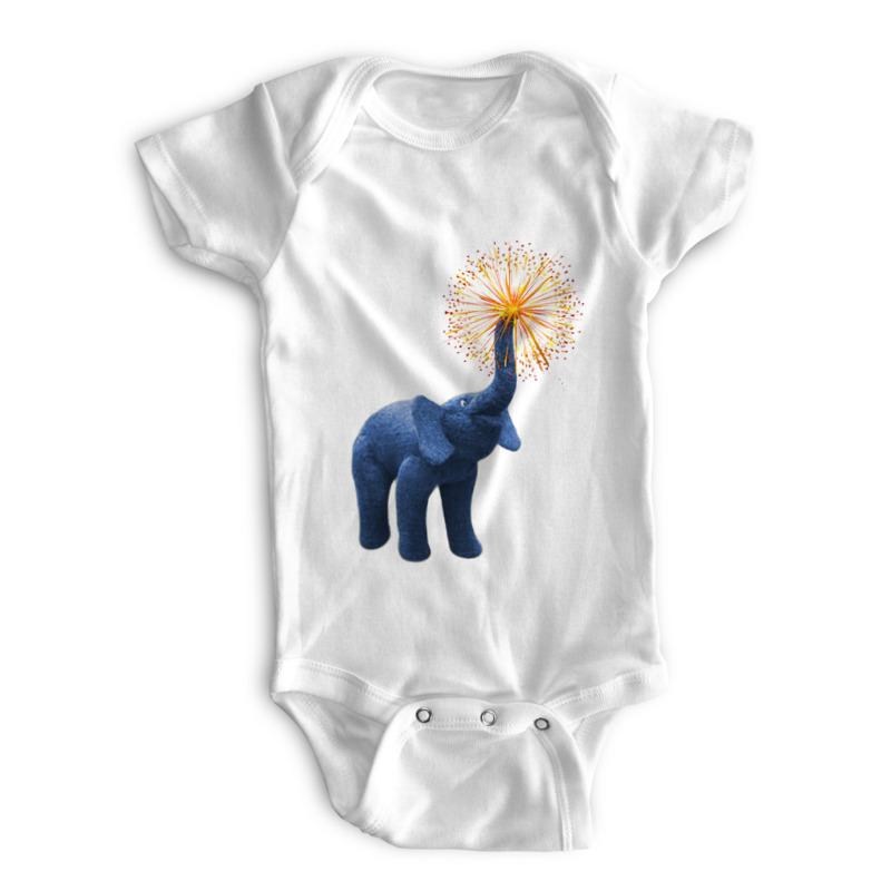 Printio Детские боди Весёлый слонёнок