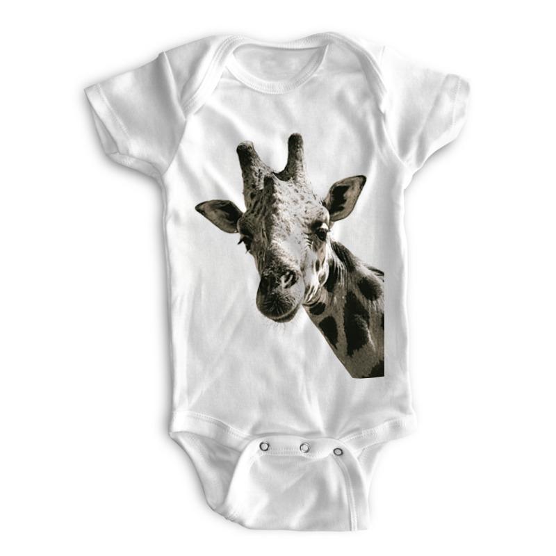 Printio Детские боди Жираф: голова и хвост