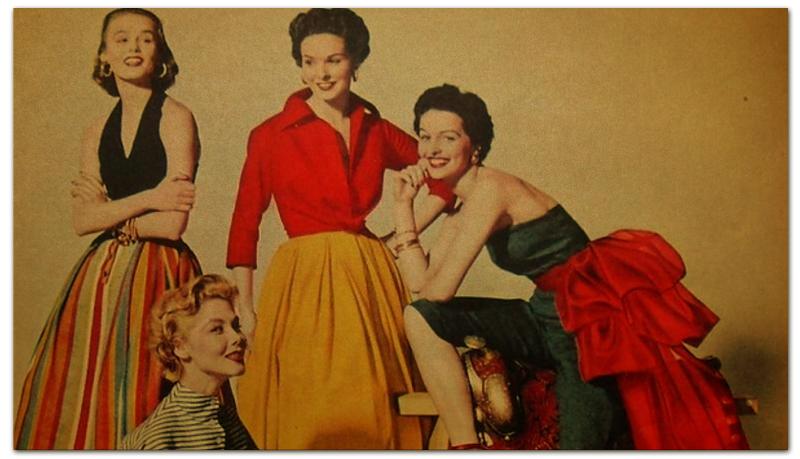 Printio Визитная карточка Наша мода в 50е