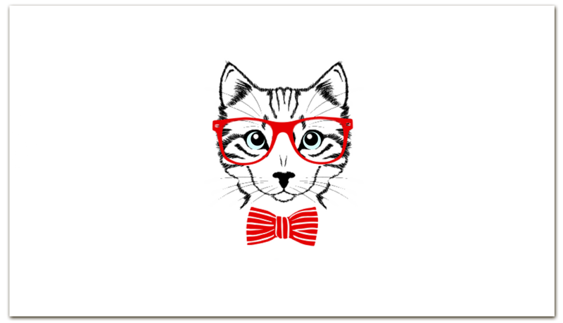 Printio Визитная карточка Кошка