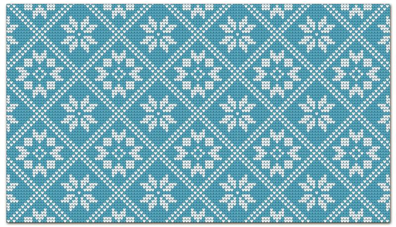 Printio Визитная карточка Новогодние узоры