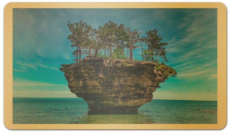 Printio Визитная карточка Островок