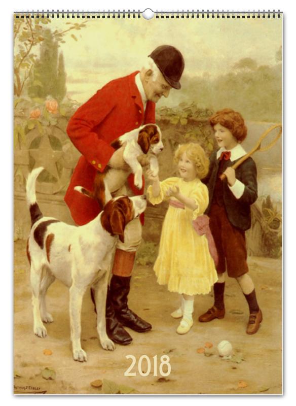 Printio Перекидной Календарь А2 Собаки в живописи артура джона элсли