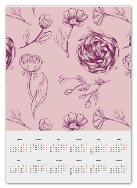 Printio Календарь А2 Осенний сад