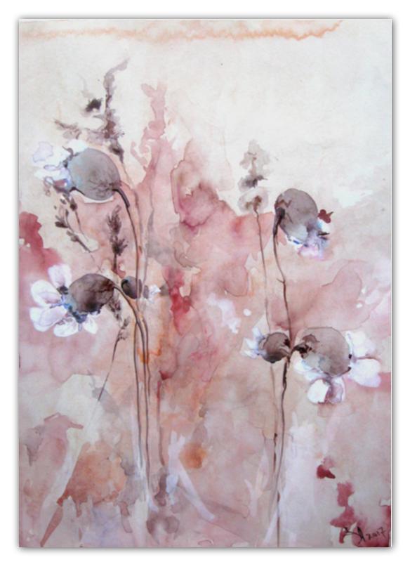 Printio Календарь А2 Осенние цветы