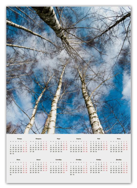 Printio Календарь А2 Березы