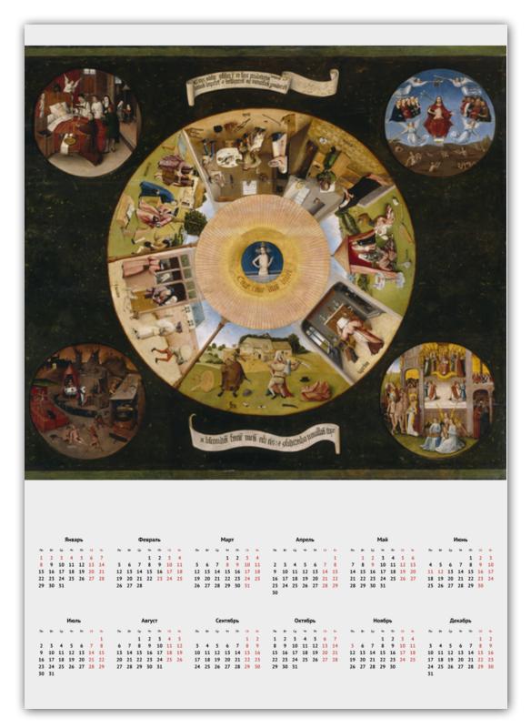 Printio Календарь А2 Семь смертных грехов (иероним босх)
