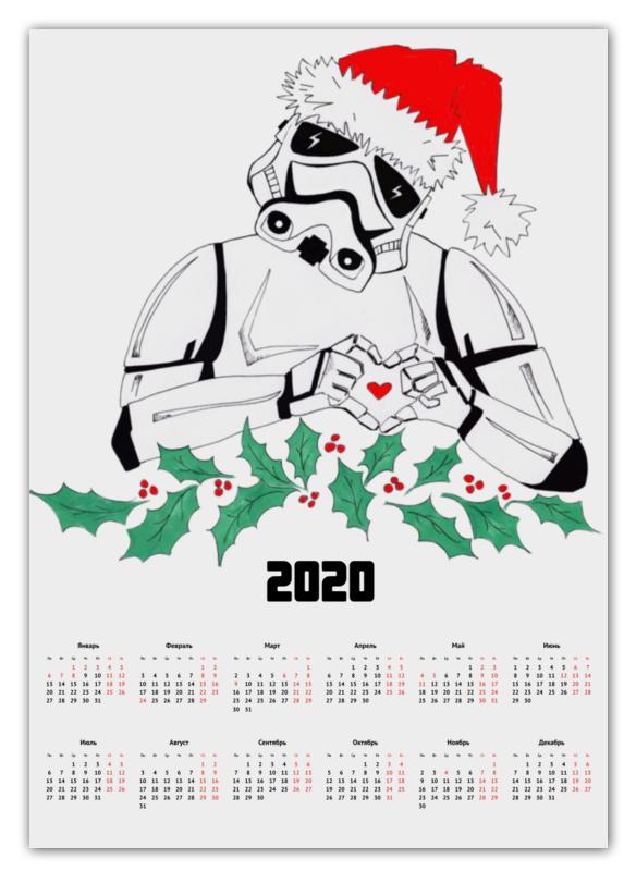 Printio Календарь А2 Космический солдат