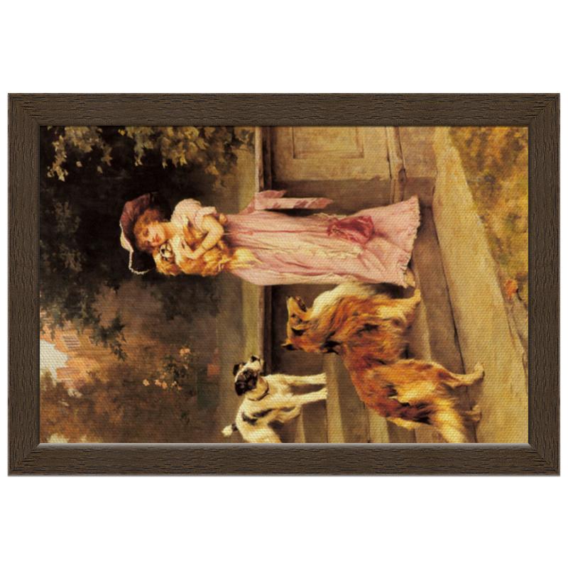 Фото - Printio Холст 20×30 Девушка с собаками printio холст 40×55 охота с собаками