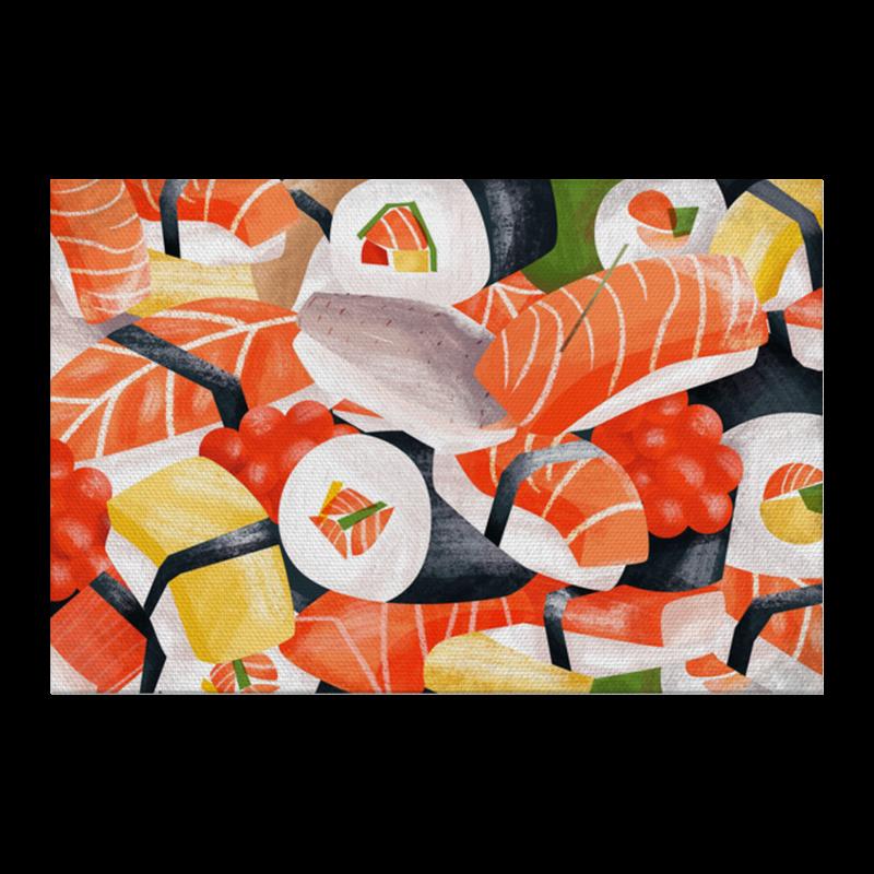Фото - Printio Холст 20×30 Суши роллы printio лонгслив суши и роллы