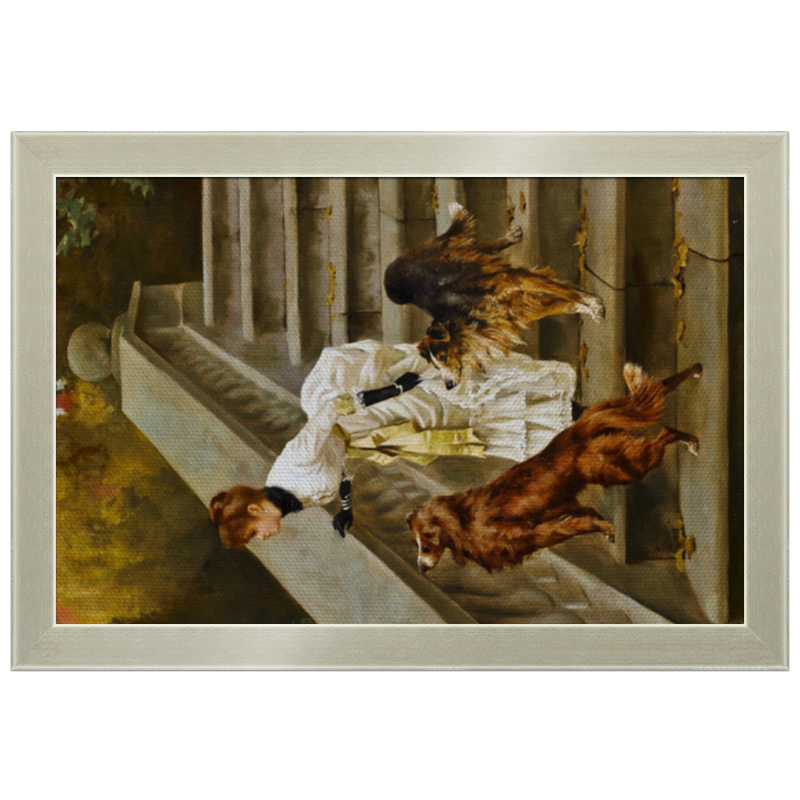 Фото - Printio Холст 20×30 Дама с собаками printio холст 40×55 охота с собаками
