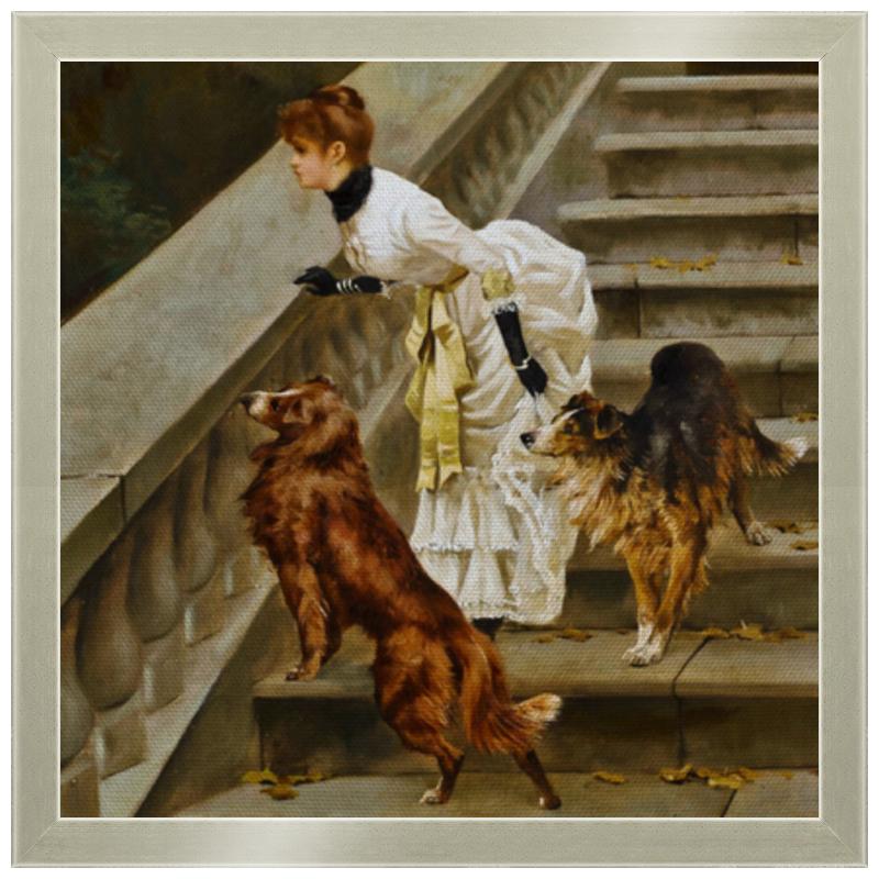 Фото - Printio Холст 30×30 Дама с собаками printio холст 40×55 охота с собаками