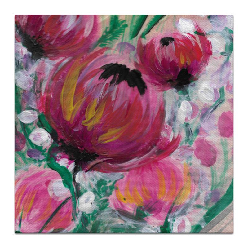 Printio Холст 30×30 Полевые цветы