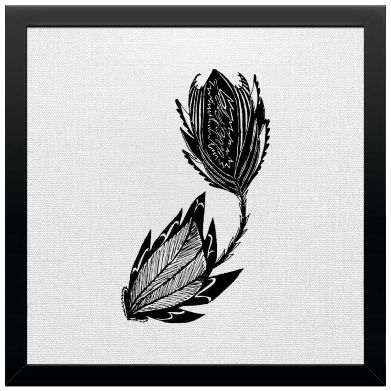 Printio Холст 30×30 Черный цветок printio холст 30×30 бабочка