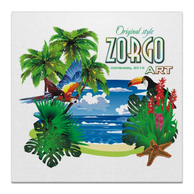 Printio Холст 30×30 Тропические птицы от зорго арт.