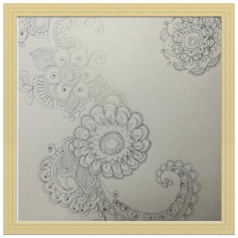 Printio Холст 30×30 Узоры, цветы.